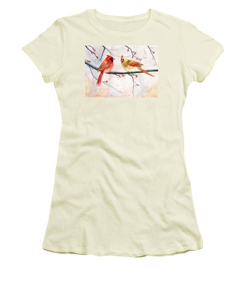 Just The Two Of Us Women's T-Shirt (Junior Cut) by Melly Terpening