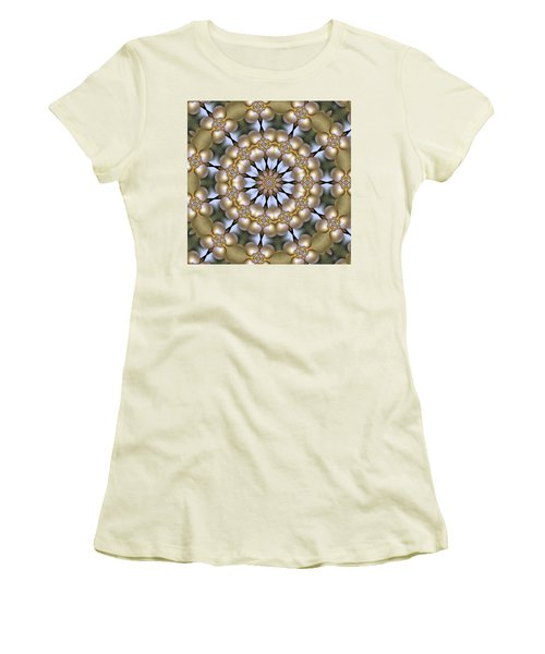Women's T-Shirt (Junior Cut) featuring the digital art Kaleidoscope 130 by Ron Bissett