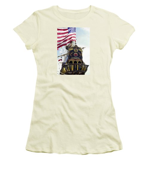 Kalmar Nyckel Tall Ship Women's T-Shirt (Athletic Fit)