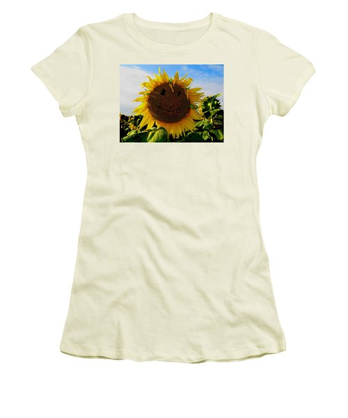 Kansas Sunflower Women's T-Shirt (Athletic Fit)