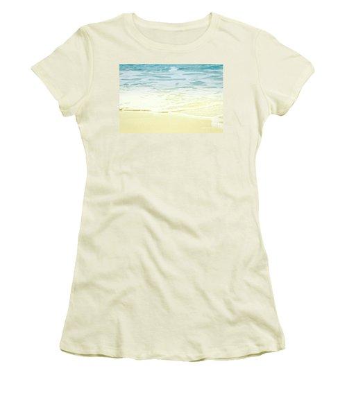 Kapalua Beach Dream Colours Sparkling Golden Sand Seafoam Maui Women's T-Shirt (Junior Cut) by Sharon Mau