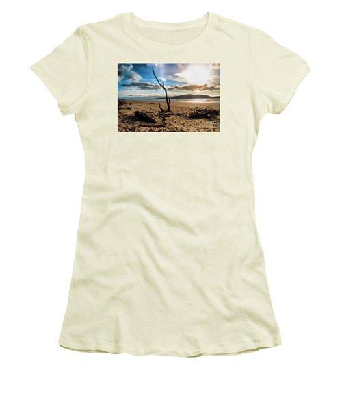 Kapiti Sunset Women's T-Shirt (Junior Cut) by Karen Lewis