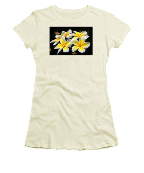 Kauai Plumerias Large Canvas Art, Canvas Print, Large Art, Large Wall Decor, Home Decor, Photograph Women's T-Shirt (Junior Cut) by David Millenheft