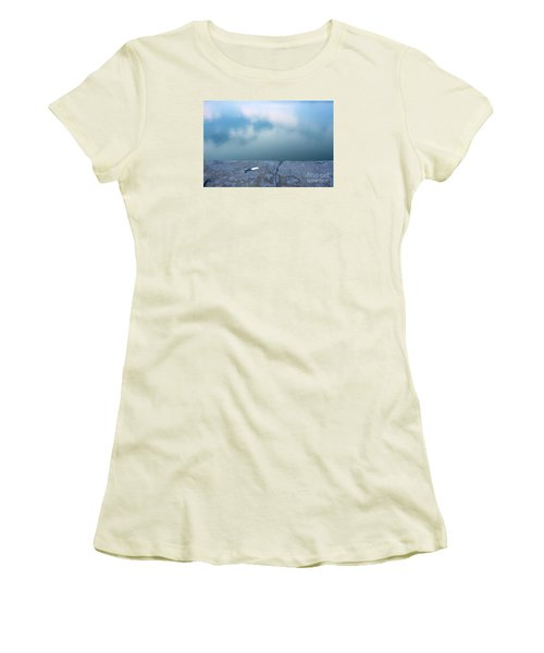 Women's T-Shirt (Junior Cut) featuring the photograph Key On The Lake Shore by Odon Czintos