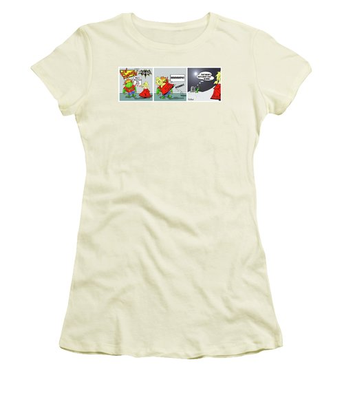 Kid Monsta Triptych 3 Women's T-Shirt (Athletic Fit)
