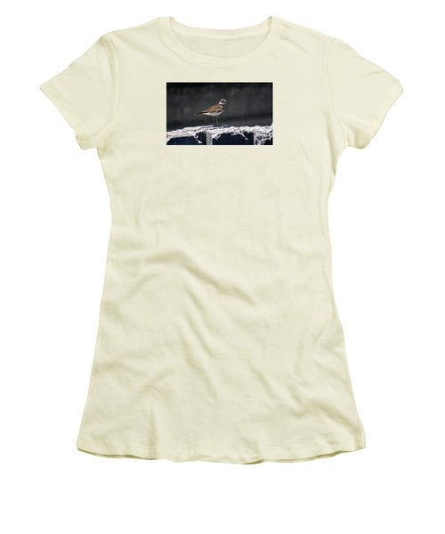Killdeer Women's T-Shirt (Junior Cut) by M Images Fine Art Photography and Artwork