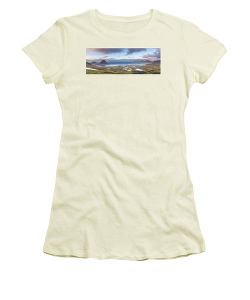 Kirkjufell And Grundarfjordur From On High Women's T-Shirt (Athletic Fit)