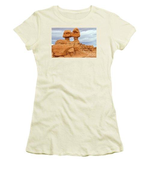 Kissing Rock Women's T-Shirt (Junior Cut) by Jason Abando