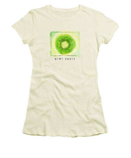 Kiwi Fruit Women's T-Shirt (Junior Cut) by Kathleen Wong