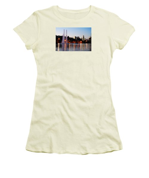 Women's T-Shirt (Junior Cut) featuring the photograph La From Echo Lake by James Kirkikis
