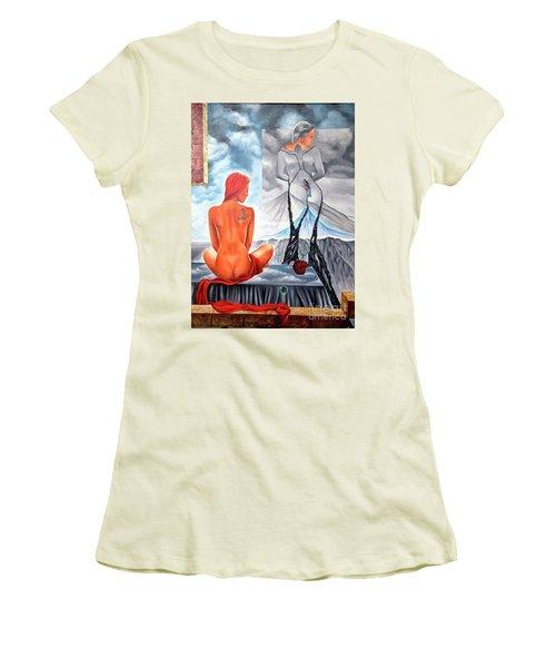 La Marcha Mas Larga Women's T-Shirt (Junior Cut) by Jorge L Martinez Camilleri