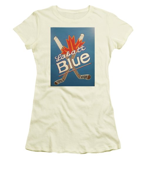 Labatt Blue Women's T-Shirt (Junior Cut) by Jonathon Hansen