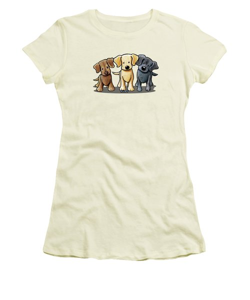 Labrador Beach Trio Women's T-Shirt (Athletic Fit)