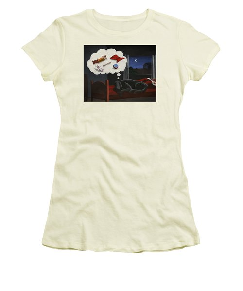 Lady Dreams About Her Favourite Things Women's T-Shirt (Athletic Fit)