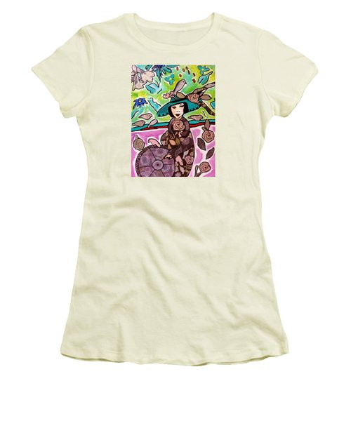 Lady Of The Birds Women's T-Shirt (Athletic Fit)