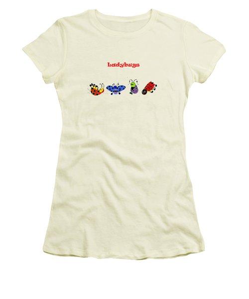 Ladybugs T-shirt Women's T-Shirt (Junior Cut) by Karen Beasley