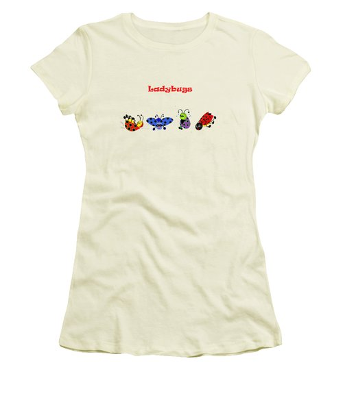 Ladybugs T-shirt Women's T-Shirt (Athletic Fit)