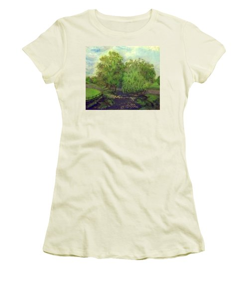 Landscape With Trees Women's T-Shirt (Athletic Fit)