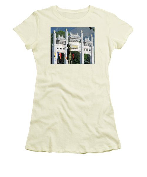 Women's T-Shirt (Junior Cut) featuring the photograph Lantau Island 51 by Randall Weidner