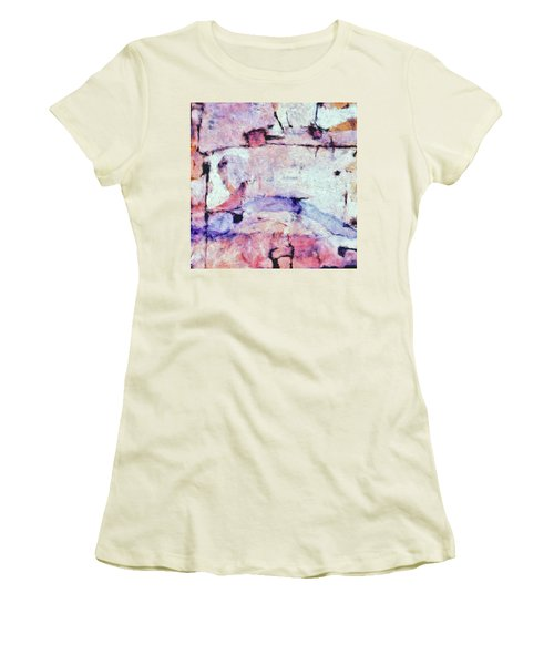 Women's T-Shirt (Junior Cut) featuring the painting Laredo by Dominic Piperata