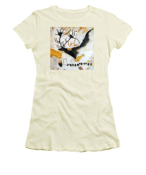 Lascaux Megaceros Deer Women's T-Shirt (Athletic Fit)