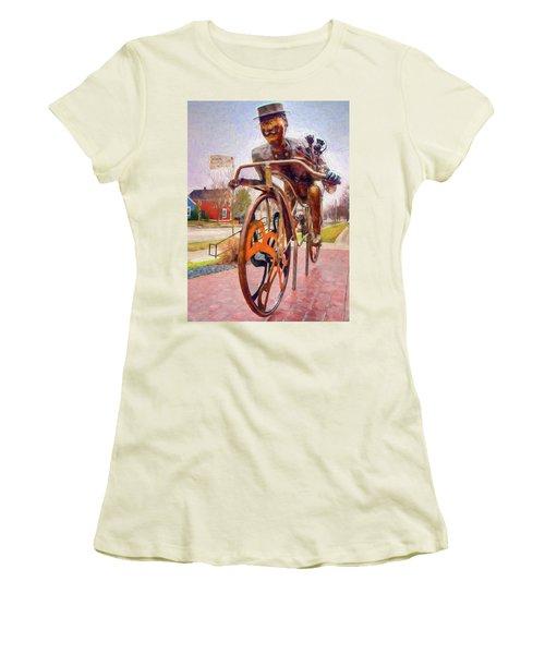 Late For A Date Women's T-Shirt (Junior Cut) by Trey Foerster