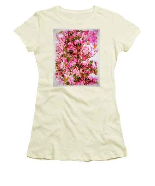 Late Snow Early Flowers Women's T-Shirt (Athletic Fit)
