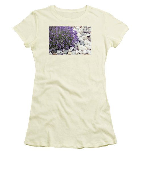 Lavender Flower In The Garden,park,backyard,meadow Blossom In Th Women's T-Shirt (Athletic Fit)