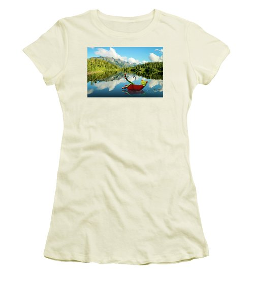 Women's T-Shirt (Junior Cut) featuring the digital art Lazy Days by Nathan Wright