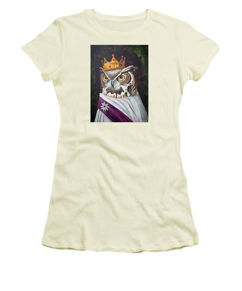 Le Royal Owl Women's T-Shirt (Junior Cut) by Nathan Rhoads