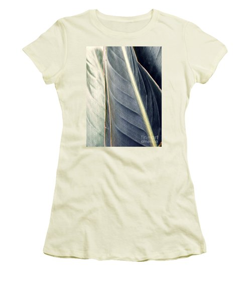 Leaf Abstract 14 Women's T-Shirt (Junior Cut) by Sarah Loft