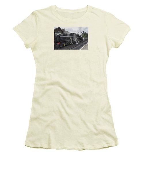 Leaving Grosmont Women's T-Shirt (Junior Cut) by David  Hollingworth