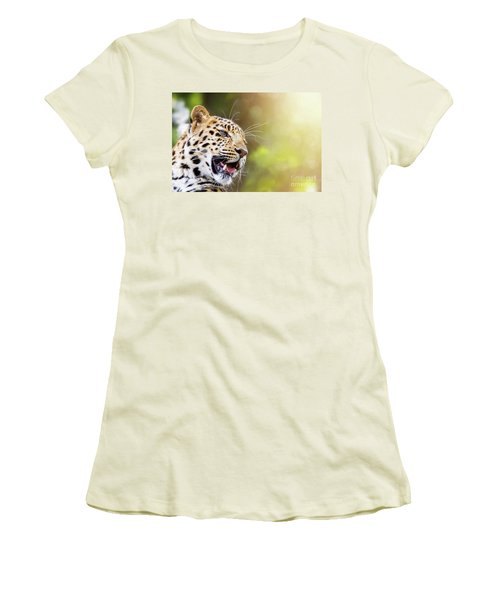 Leopard In Sunlight Women's T-Shirt (Athletic Fit)