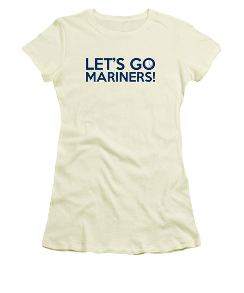 Let's Go Mariners Women's T-Shirt (Junior Cut) by Florian Rodarte