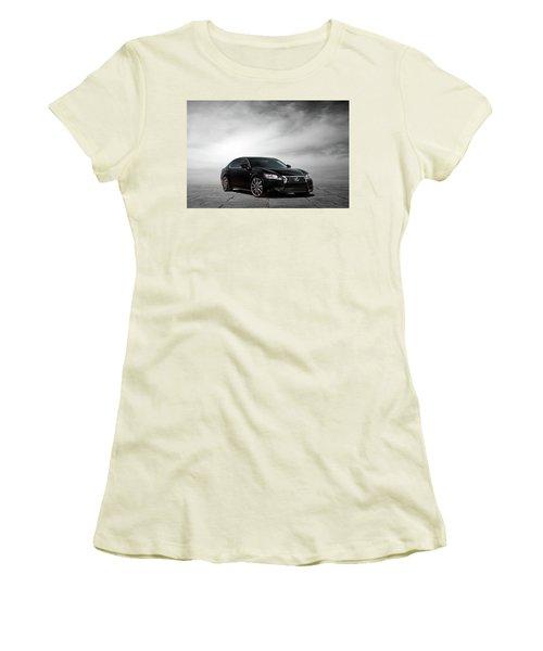 Women's T-Shirt (Junior Cut) featuring the digital art Lexus Gs350 F Sport by Peter Chilelli