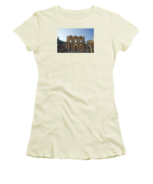 Library Of Ephesus Or Celsus Women's T-Shirt (Junior Cut) by Yuri Santin