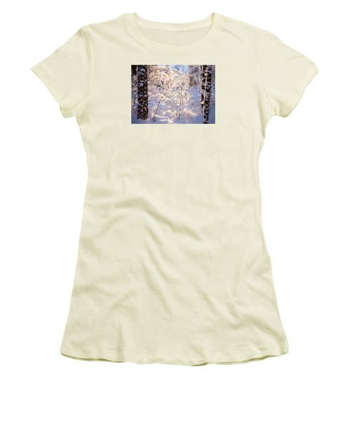 Women's T-Shirt (Junior Cut) featuring the photograph Light Of Winter by Rose-Maries Pictures