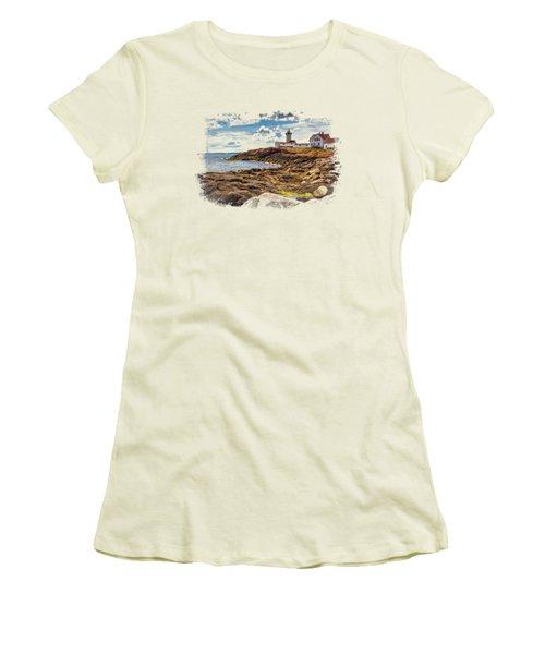 Light On The Sea Women's T-Shirt (Junior Cut) by John M Bailey