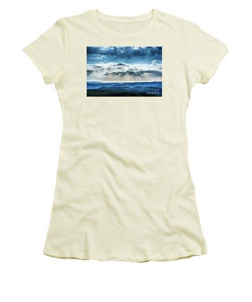 Women's T-Shirt (Junior Cut) featuring the photograph Light Rains Down by Thomas R Fletcher