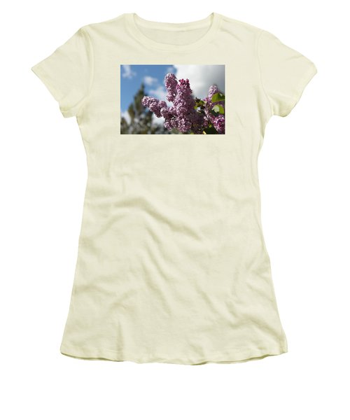 Women's T-Shirt (Junior Cut) featuring the photograph Lilacs 5547 by Antonio Romero