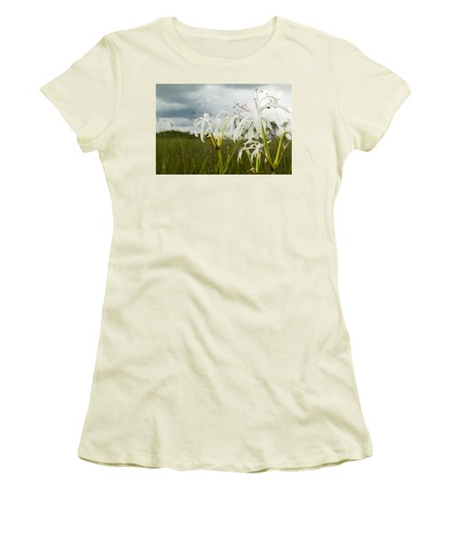 Lilies Thunder Women's T-Shirt (Junior Cut) by Christopher L Thomley