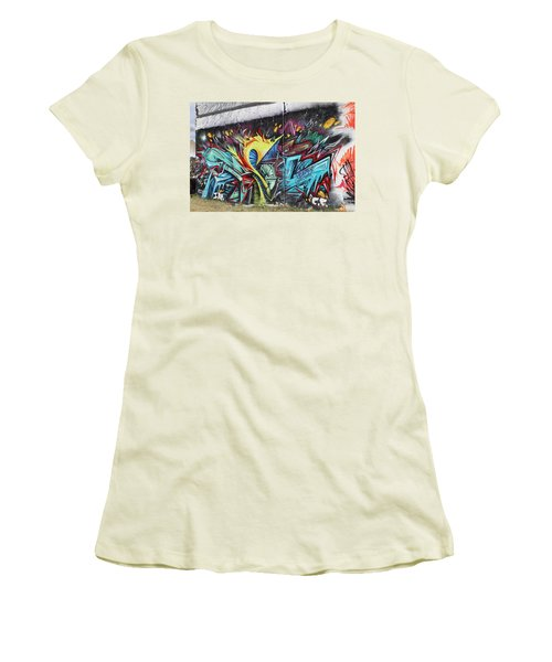 Women's T-Shirt (Junior Cut) featuring the painting Lincoln Street by Sheila Mcdonald