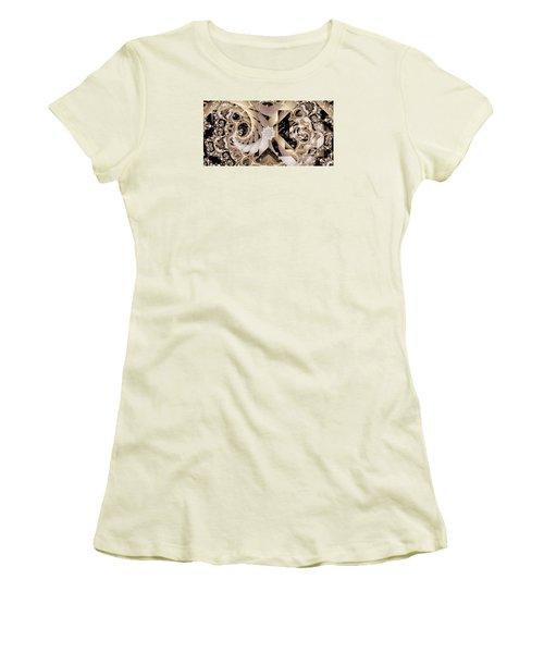 Linen And Silk Women's T-Shirt (Junior Cut) by Ron Bissett