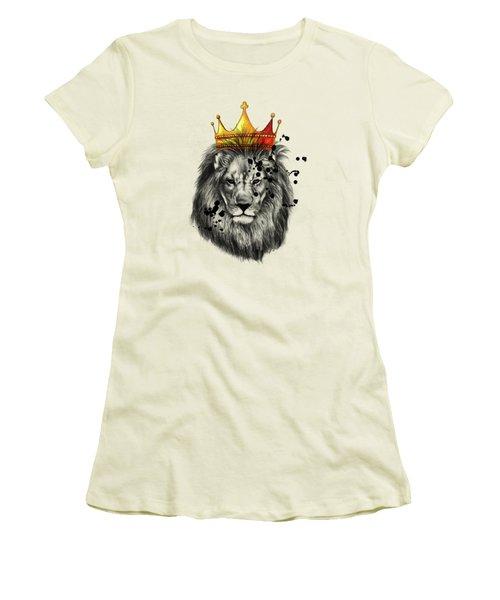 Lion King  Women's T-Shirt (Junior Cut) by Mark Ashkenazi