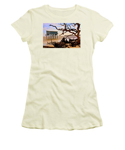 Little Blue Hunting Island State Park Beaufort Sc Women's T-Shirt (Athletic Fit)