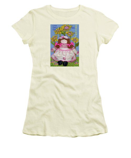 Little Girls Have Big Dreams Women's T-Shirt (Athletic Fit)