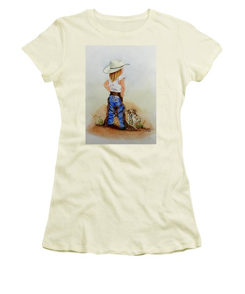 Little Miss Big Britches Women's T-Shirt (Junior Cut) by Jimmy Smith