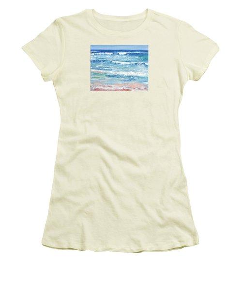 Little Riptides Women's T-Shirt (Junior Cut) by Trina Teele