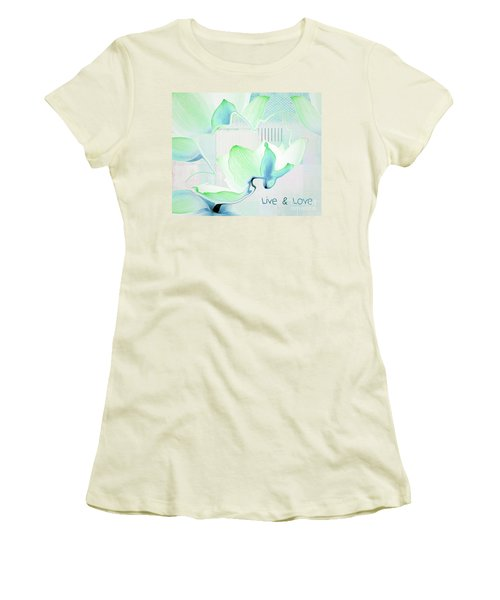 Women's T-Shirt (Junior Cut) featuring the photograph Live N Love - Absf15 by Variance Collections