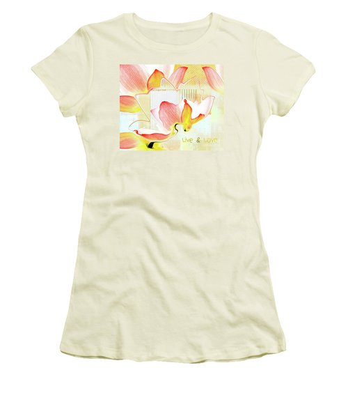 Women's T-Shirt (Junior Cut) featuring the photograph Live N Love - Absf44b by Variance Collections